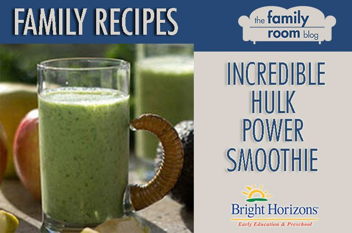 Family Recipes: Incredible Hulk Power Smoothie