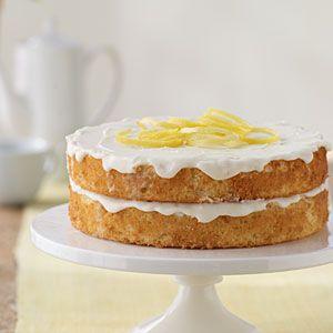 Nathan's Lemon Cake Recipe: Lemon Cakes Recipe, Cakes Make, Cakelight Version, Cooking Lighting, Cakes Lighting Version, Lemon Cakes Lighting, Savory Recipe, Lemon Cakelight, Lemon Birthday Cakes