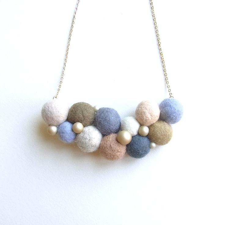R's Felt Ball Necklace -  via Etsy.