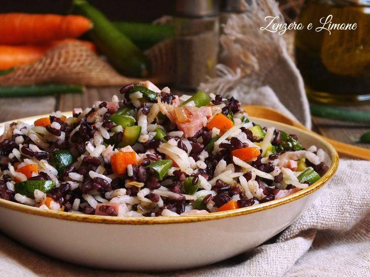 Insalata+di+riso+nero+e+bianco+con+verdure