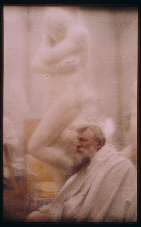 "Edward Steichen, ""Rodin--The Eve,"" 1907, autochrome photograph"