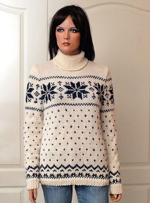 "Pattern for Norwegian Sweater ""Inken"""