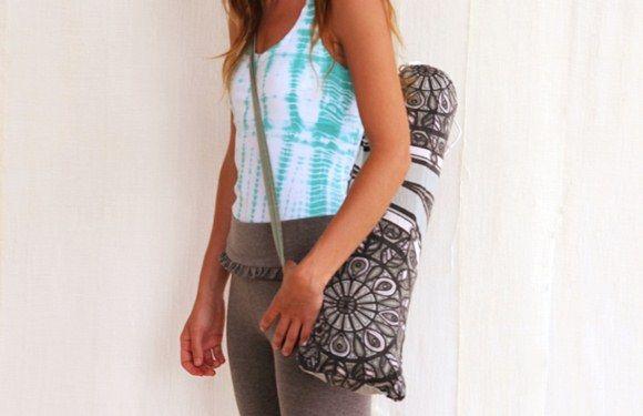 Bolsa para tapete de yoga pode também ser sustentável, se você utilizar tecido reciclado