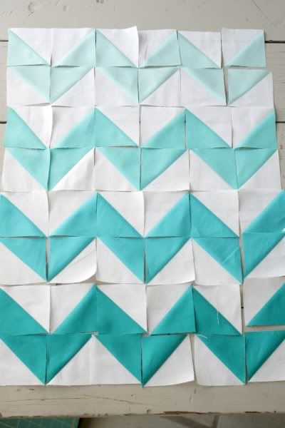 Chevron Quilt made with triangles!
