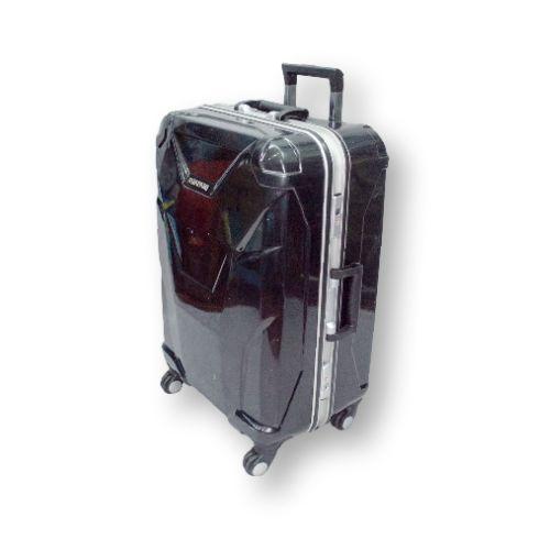 Чёрный, пластиковый чемодан малого размера на 4 колёсах Asiapard 88003 (20 дюймов) #travel #luggage #Laptop