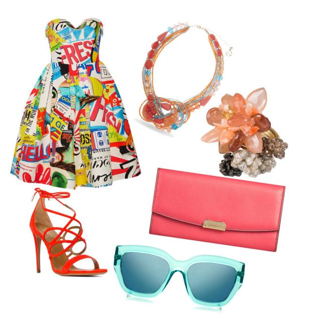 ☺ by mariuccia1 on Polyvore featuring polyvore fashion style Moschino Aquazzura Burberry Erica Lyons Le Specs clothing