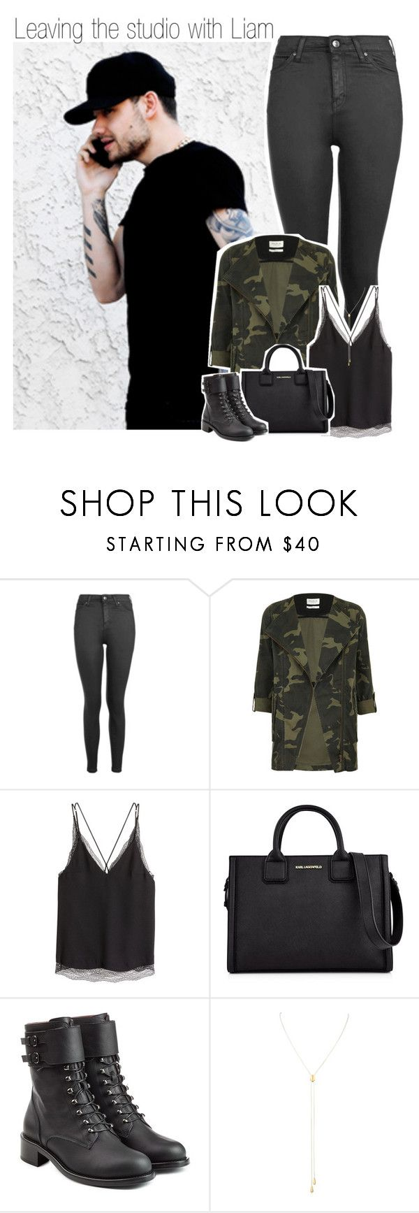 """""""Leaving the studio with Liam"""" by liamismybabe ❤ liked on Polyvore featuring Payne, Topshop, Parka London, H&M, Karl Lagerfeld, Philosophy di Lorenzo Serafini, Susan Caplan Vintage, OneDirection and LiamPayne"""