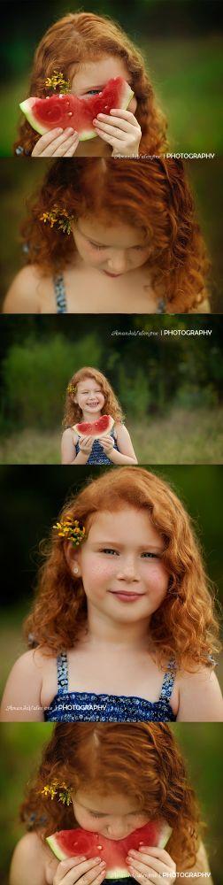Little girl watermelon photo shoot