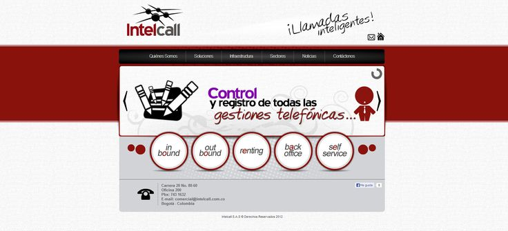 Sitio web Intelcall - Colombia