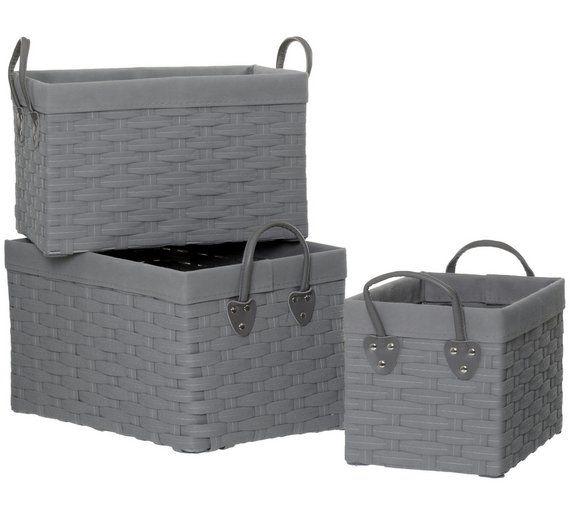 Buy Premier Housewares Lida Set of 3 Rectangular Storage Baskets at Argos.co.uk, visit Argos.co.uk to shop online for Storage baskets and boxes, Storage, Home and garden