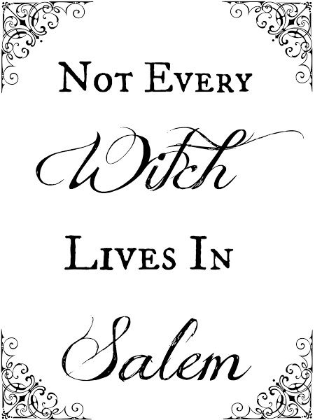 Free Halloween Printables. I love this, especially since I want to live in Salem.
