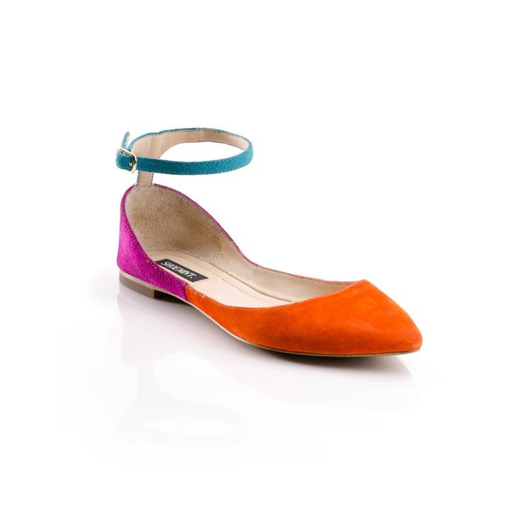 Hattie - ShoeMint: Color Blocking, Color Palettes, Splash Of Color, Colorblock Flats, Color Flats, Color Combos, Fun Color Blocks, Color Block Shoes