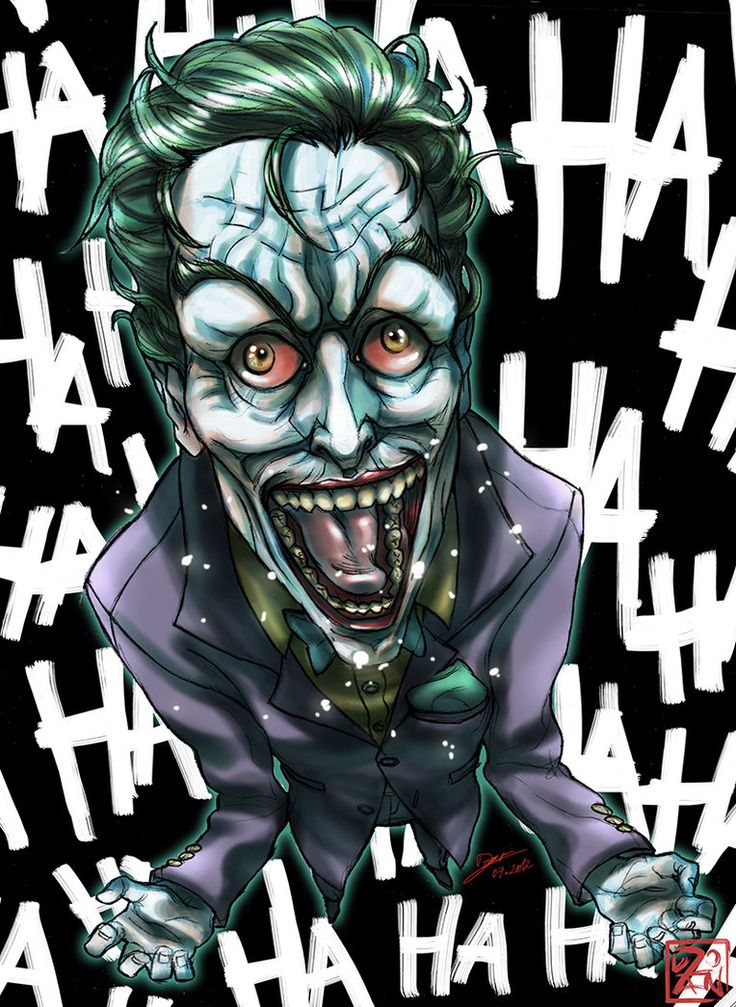 Joker `I'm not mad, just differently sane` by Dzoan