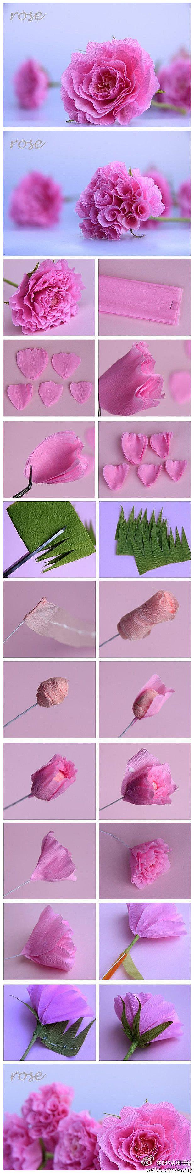 Belas flores artesanais DIY · · · · · · juntos