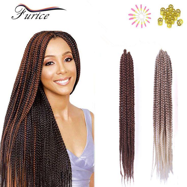 Popularne Pole Pole Warkocze Włosy 3X Warkocze Szydełku 18 Cal 24 cala Pole Przedłużanie Włosów Syntetyczne Szydełka Braid Twist Włosów Warkocz Włosy