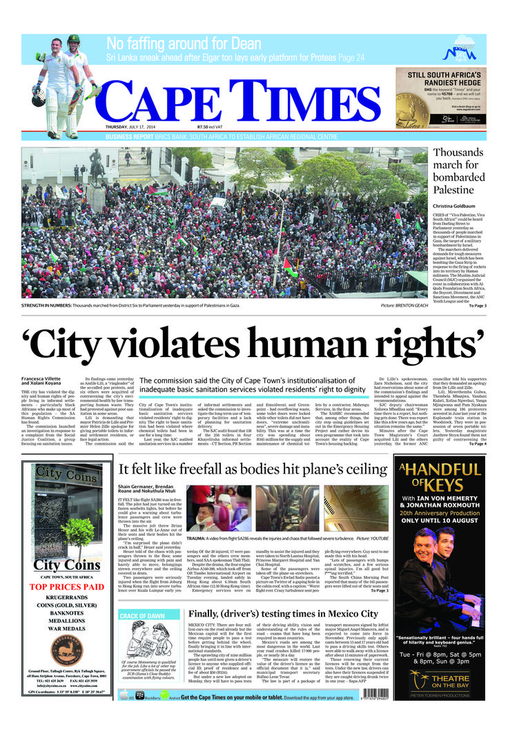 News making headlines: Thousands march for bombarded Palestine