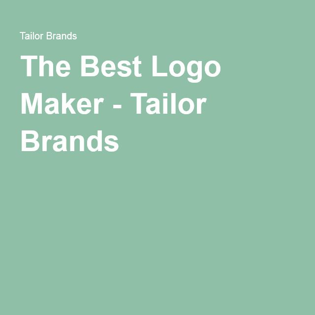 The Best Logo Maker - Tailor Brands