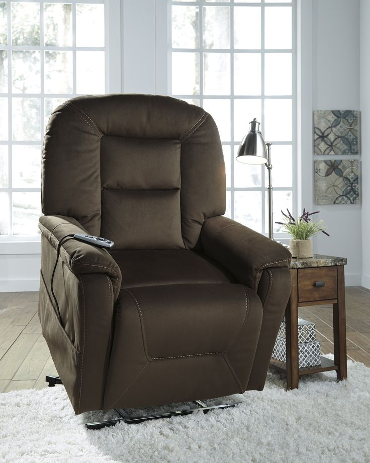 Get your Samir - Coffee - Power Lift Recliner at Owen's Home Furnishings, Clinton NC furniture store.