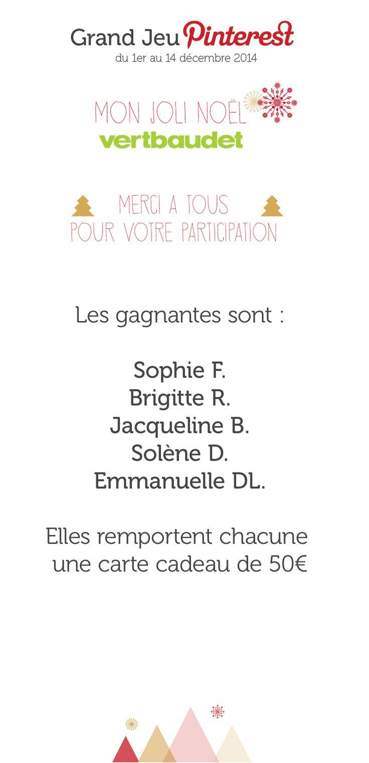 #GrandJeuMonJoliNoel avec @vertbaudet : les gagnants !