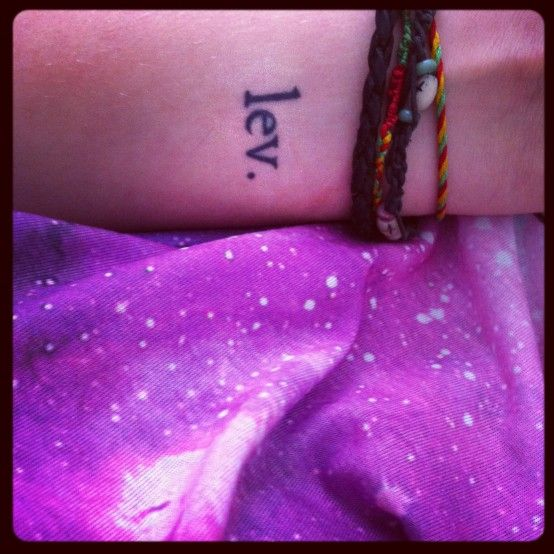 "Wrist Tattoo; Danish ""live"". I like this cause i'm danish"