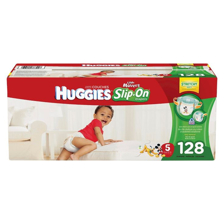 Huggies Little Movers Slip-On Diaper, Economy Plus Pack Size 5 (128 ct)