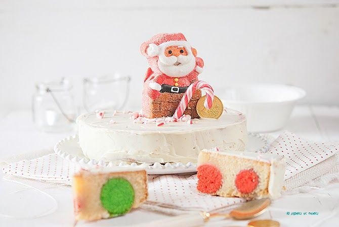 Sabores de colores: Christmas polka dot mud cake (Pastel de chocolate blanco y lunares)