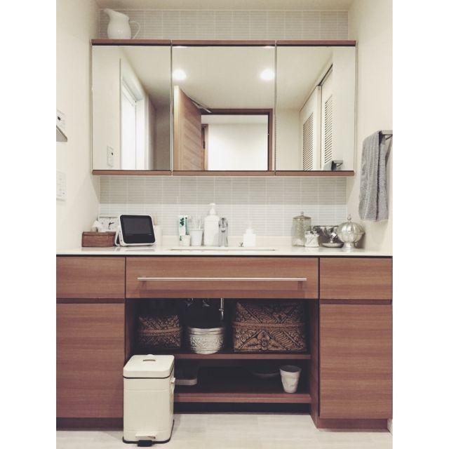 natsukoさんの、バス/トイレ,無印良品,洗面台,洗面所,北欧,アクタス,コンランショップ,バリ島,バリ雑貨,のお部屋写真