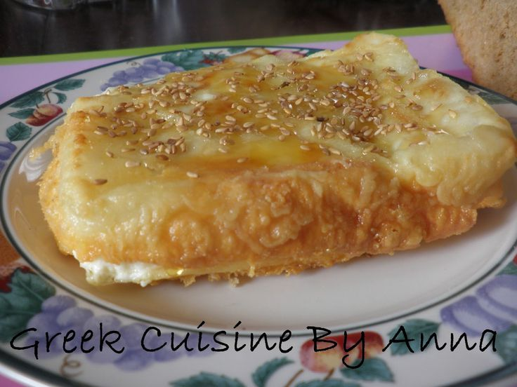 Greek Cuisine By Anna: Φέτα σαγανάκι με μέλι και σουσάμι
