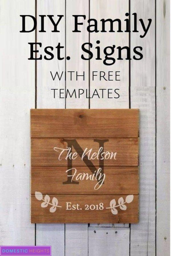 Easy Diy Family Established Signs Domestic Heights Family Established Sign Diy Established Signs Diy Family Signs Diy