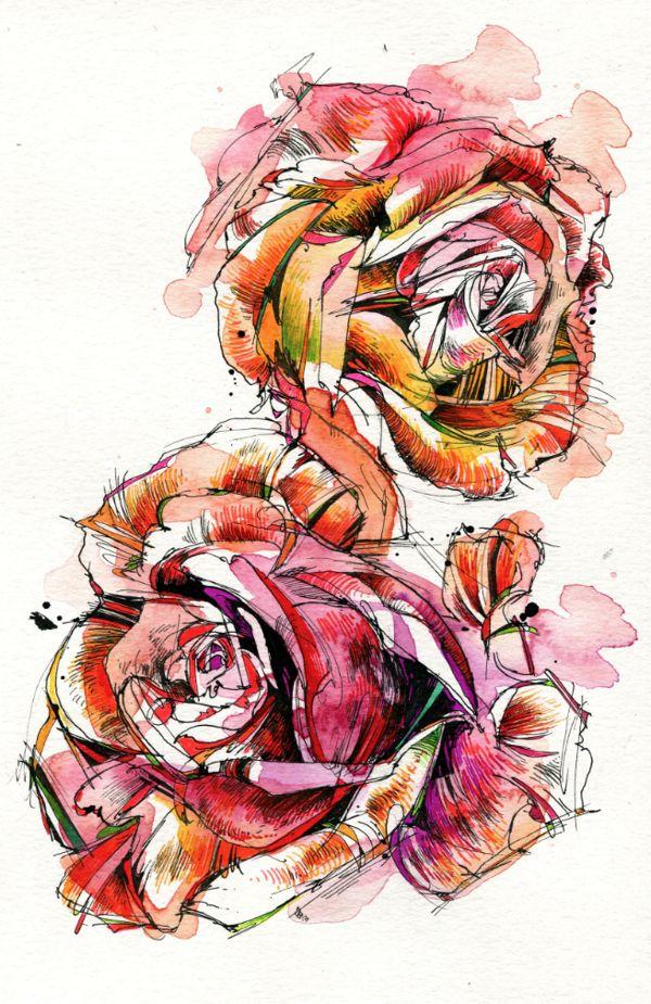 Florals by Abby Diamond, via Behance