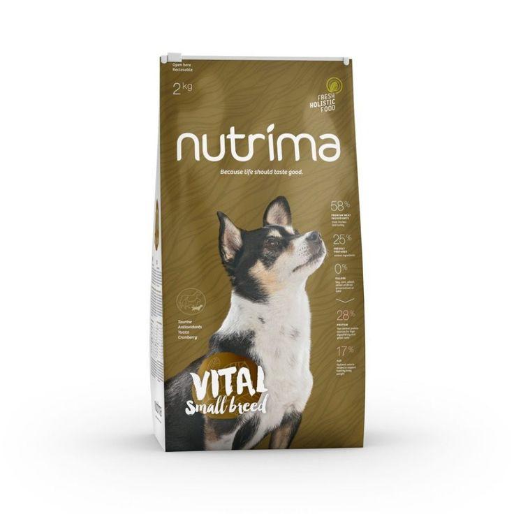 Nutrima Vital Small Breed -koiranruoka pienikokoisten aikuisten ja ikääntyvien koirien ravitsemustarpeisiin.