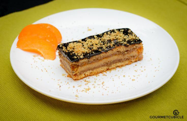 Zserbó Cake (Gerbeaud Cake) | gourmetcubicle