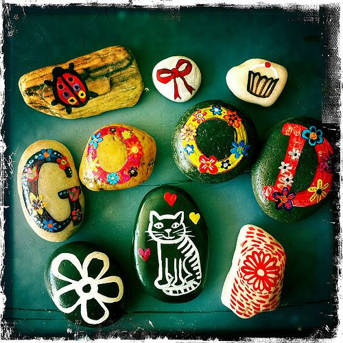 rock painting crafts!