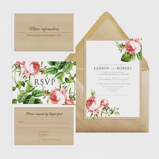 68 best wedding stationery images on pinterest wedding sweet rose wedding invitation suite by i do it yourself solutioingenieria Choice Image