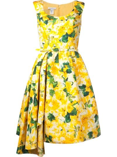 Gorgeous #Baylor Spring Time Dress!: Shops Oscars, Fashion, Oscar De La Renta, Clothing, Floral Pleated, Pleated Dresses, Oscars, Renta Floral, Floral Dresses