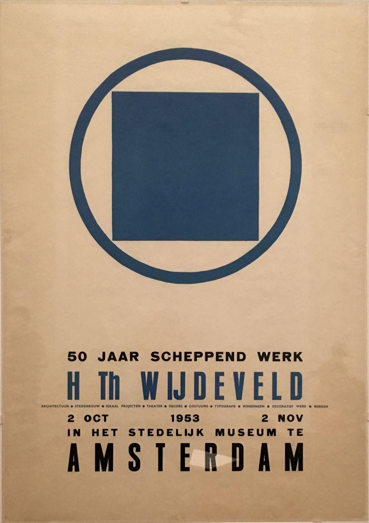 H.Th. Wijdeveld, affiche overzicht van zijn werk 1953