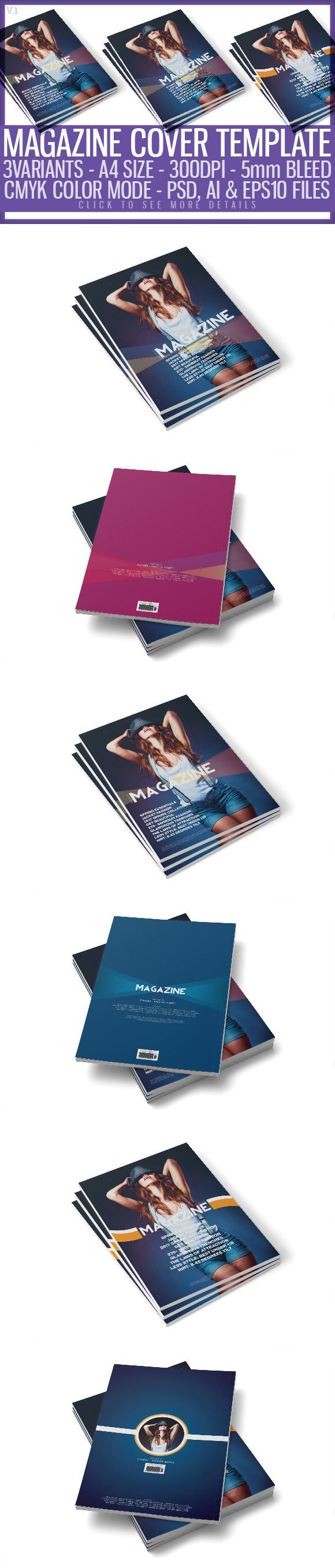 Magazine Cover Template 9 by @Graphicsauthor