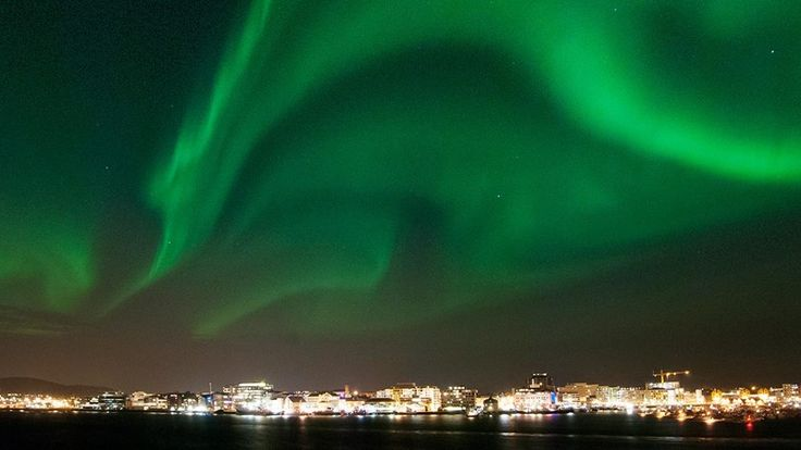 Northern Lights over Bodø, Norway. Photo: Gaute Frøystein
