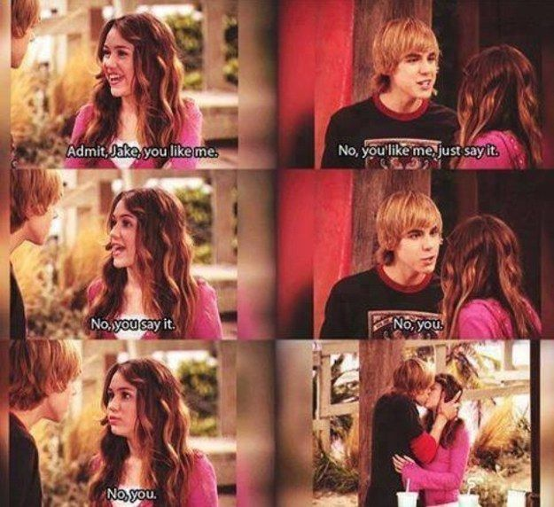 """The most dramatic first kiss of all time: 