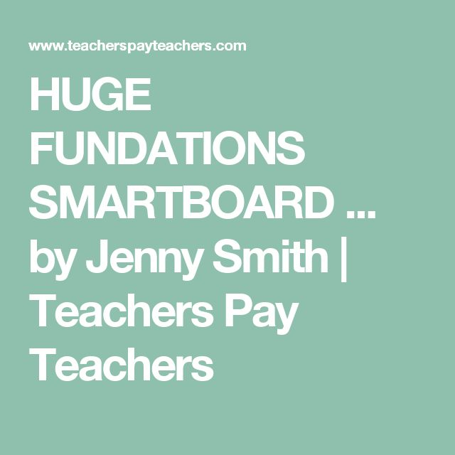 HUGE FUNDATIONS SMARTBOARD ... by Jenny Smith | Teachers Pay Teachers
