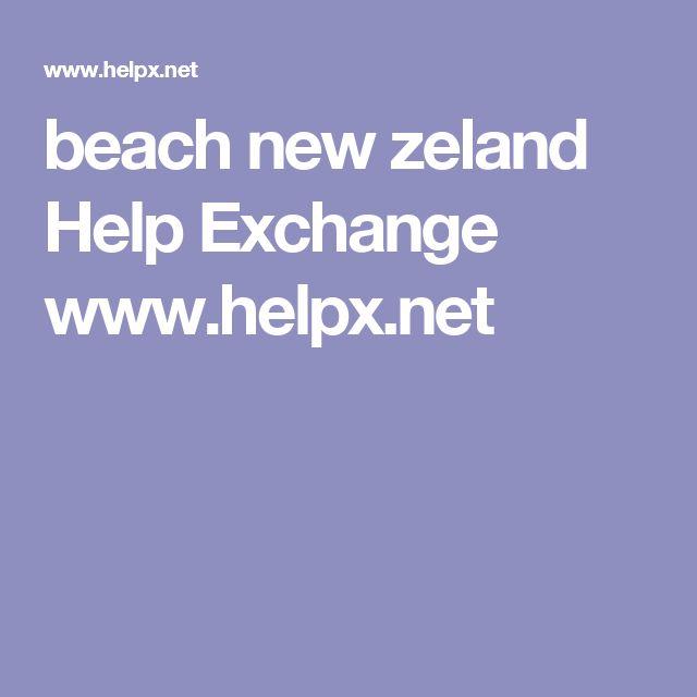 beach new zeland Help Exchange www.helpx.net