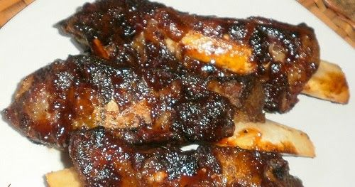 Hankering for some meat?   How about some fall-off-the-bones, crispy, sticky, barbecue beef ribs!  Simple...                                ...