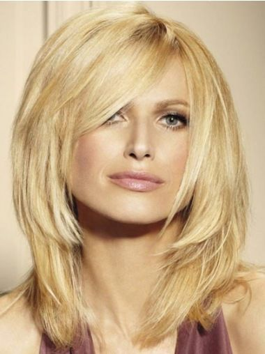Artikelnummer:HW01386; Materiaal:Remy Naturrlijk Haar; Binnenwerk:Lace Front; Binnenwerk:Lace Front; Haarlengte:Halflang; Model:Stijl,Steil;