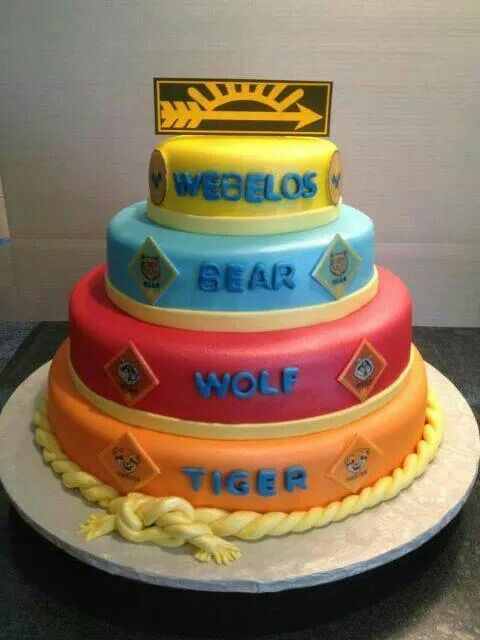 Cake blue and gold
