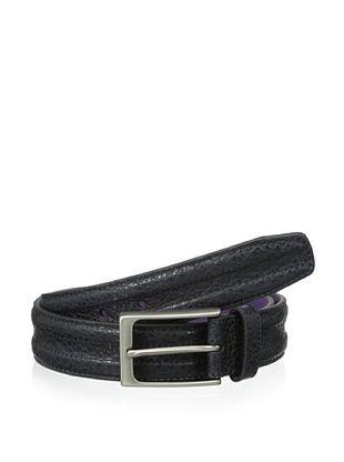 48% OFF Ike Behar Men's 35mm Trapunto Belt (Black)