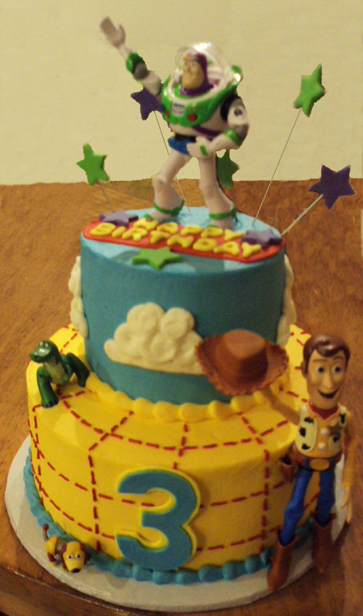 Two Tier Toy Story Cake