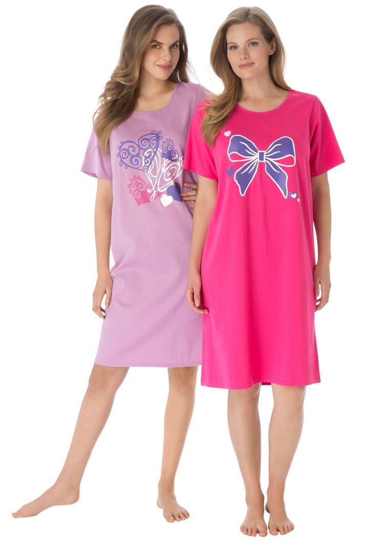 2-pack Sleepshirt by Dreams & Co. | Plus Size Sleepshirts | Woman Within