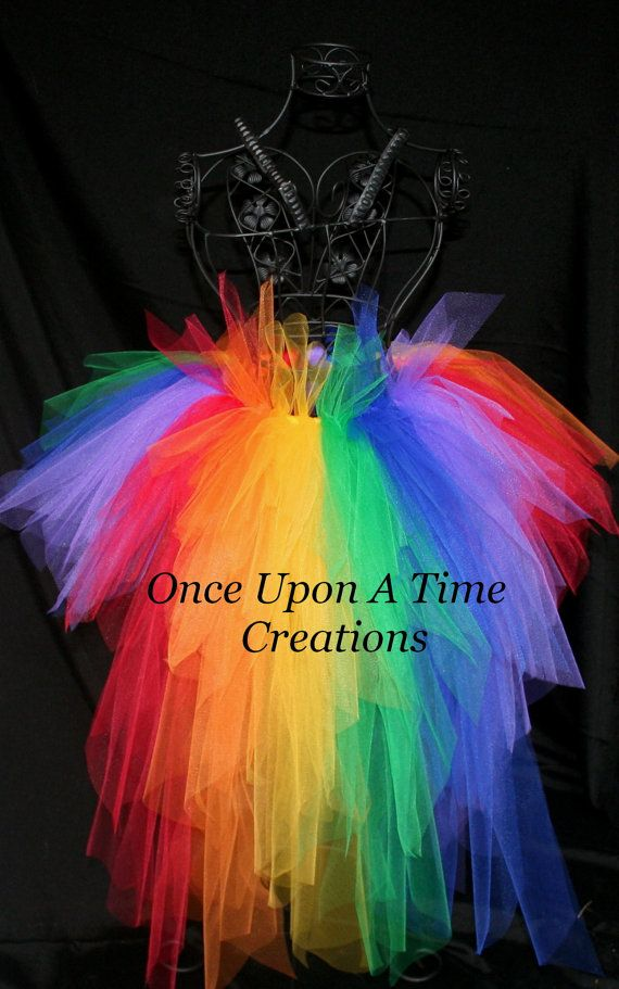 Primary Rainbow Bright Bustle TuTu  12M 2T by OnceUponATimeTuTus, $49.99
