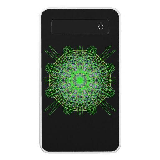 Powerbank, Kaleidoscope Mandala Art Black Green