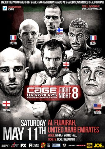 12.05.2013 Cage Warriors Fight Night 8 in VAE Ergebnisse - Results